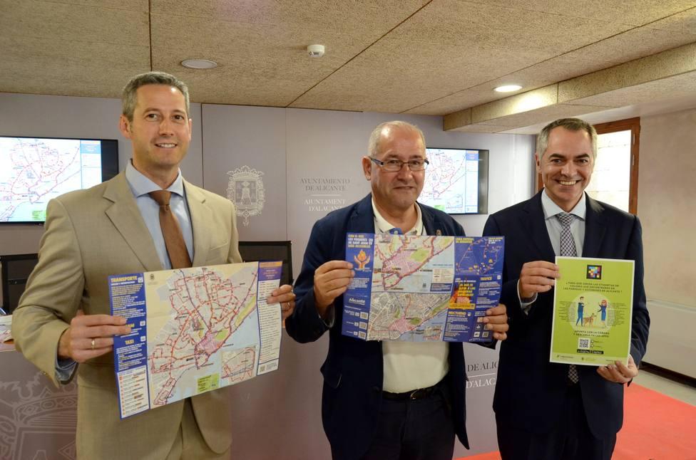 Rueda de prensa de presentación del dispositivo de Transportes de Hogueras (Ayuntamiento)