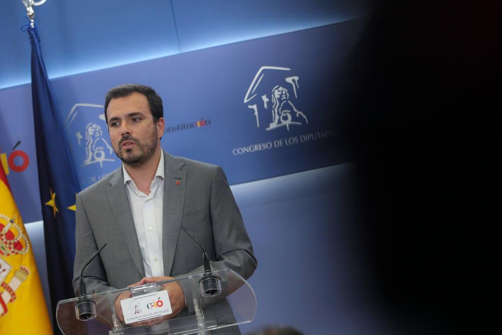 Alberto Garzón llama a los jueces poder salvaje y descontrolado tras la decisión del TS sobre Junqueras