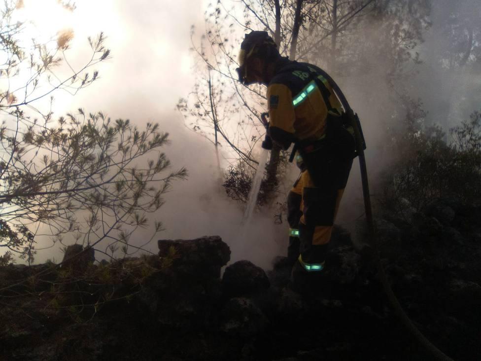 El incendio declarado este domingo en Palma se encuentra estable