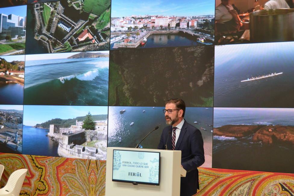 Ángel Mato, alcalde de Ferrol, durante la presentación en FITUR