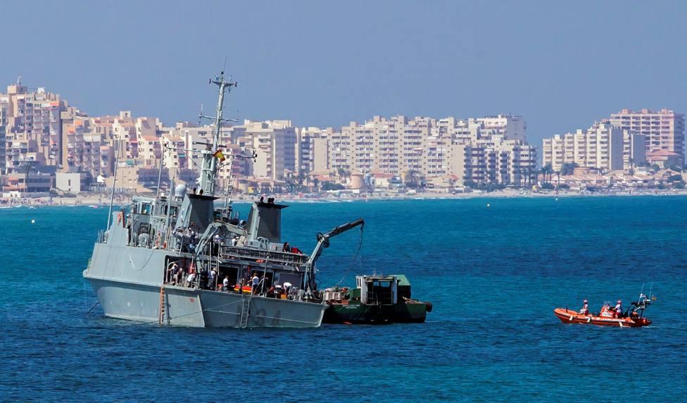 El tercer avión estrellado en el Mar Menor en seis meses