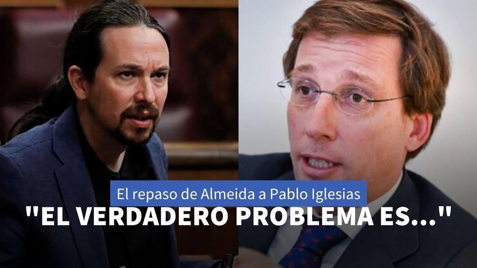 Martínez-Almeida y Pablo Iglesias