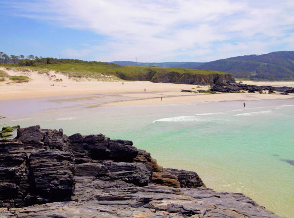 Playa de A Fragata, en Covas, Ferrol. FOTO: Turismo.gal