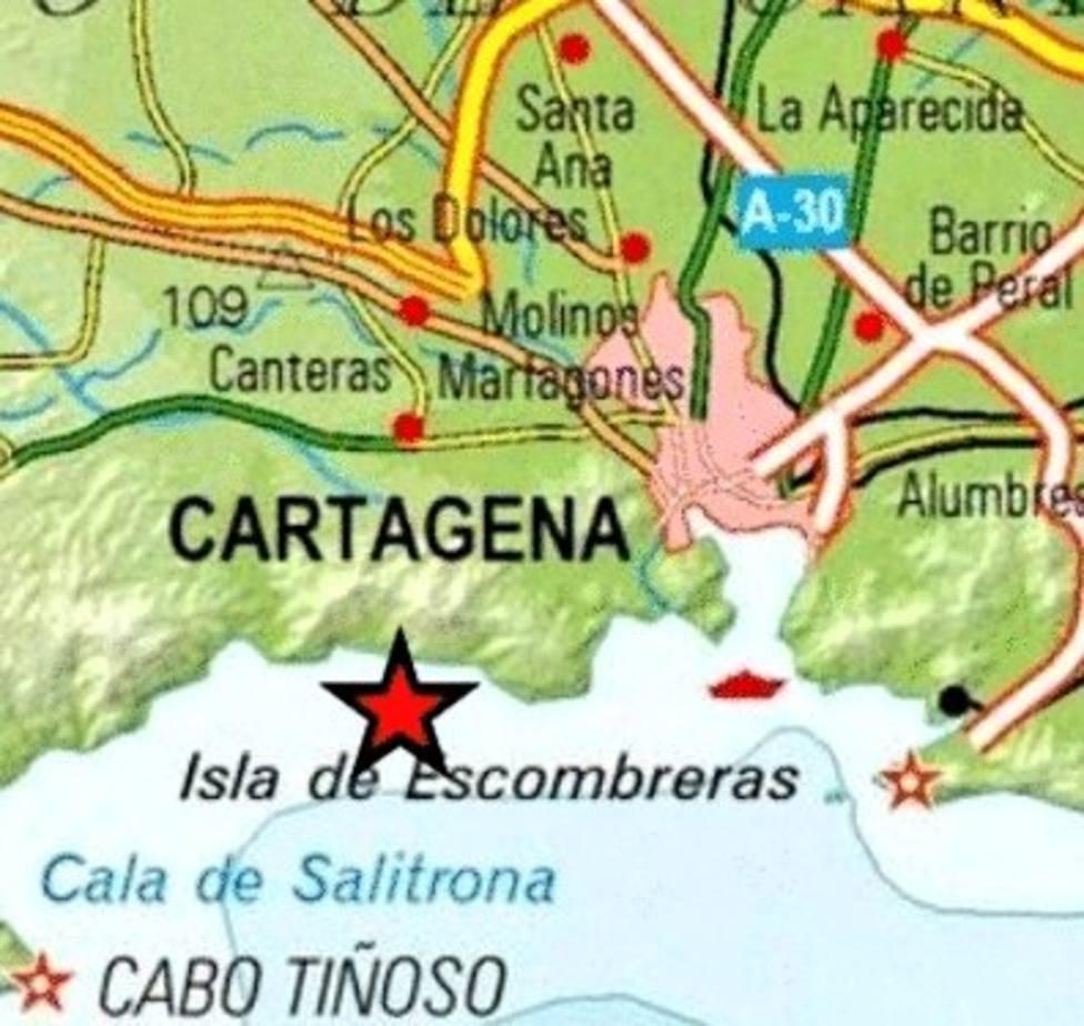 Pequeño seísmo en la costa de Cartagena