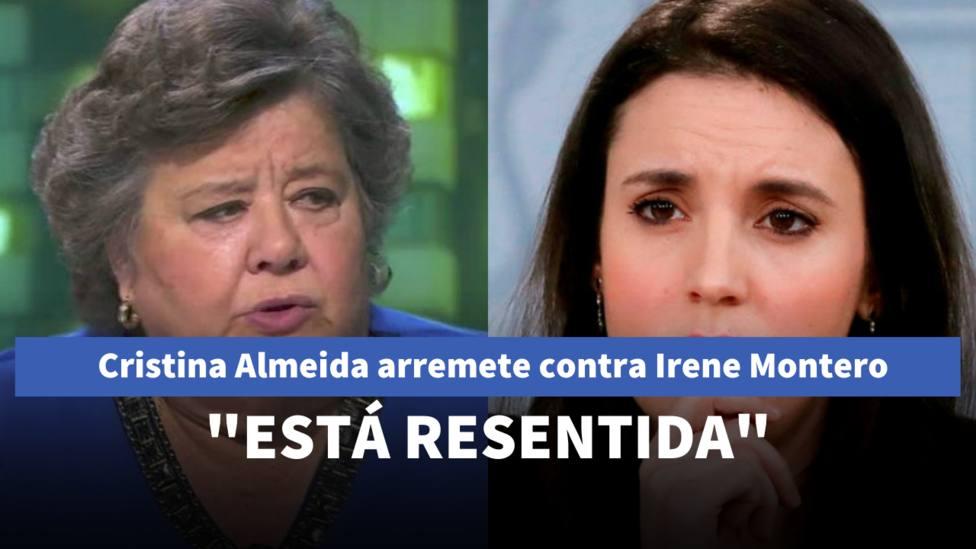 Cristina Almeida e Irene Montero