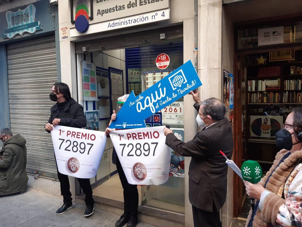 El Gordo deja 450 décimos premiados en Granada capital