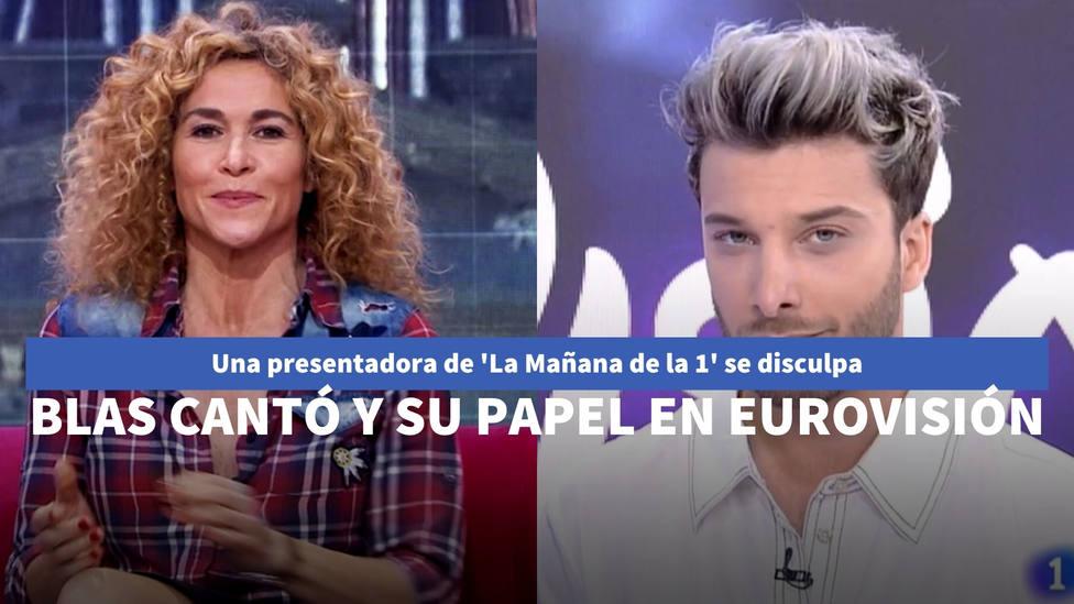 Una presentadora del programa de Mónica López se disculpa con Blas Cantó por lo que dijo sobre Eurovisión
