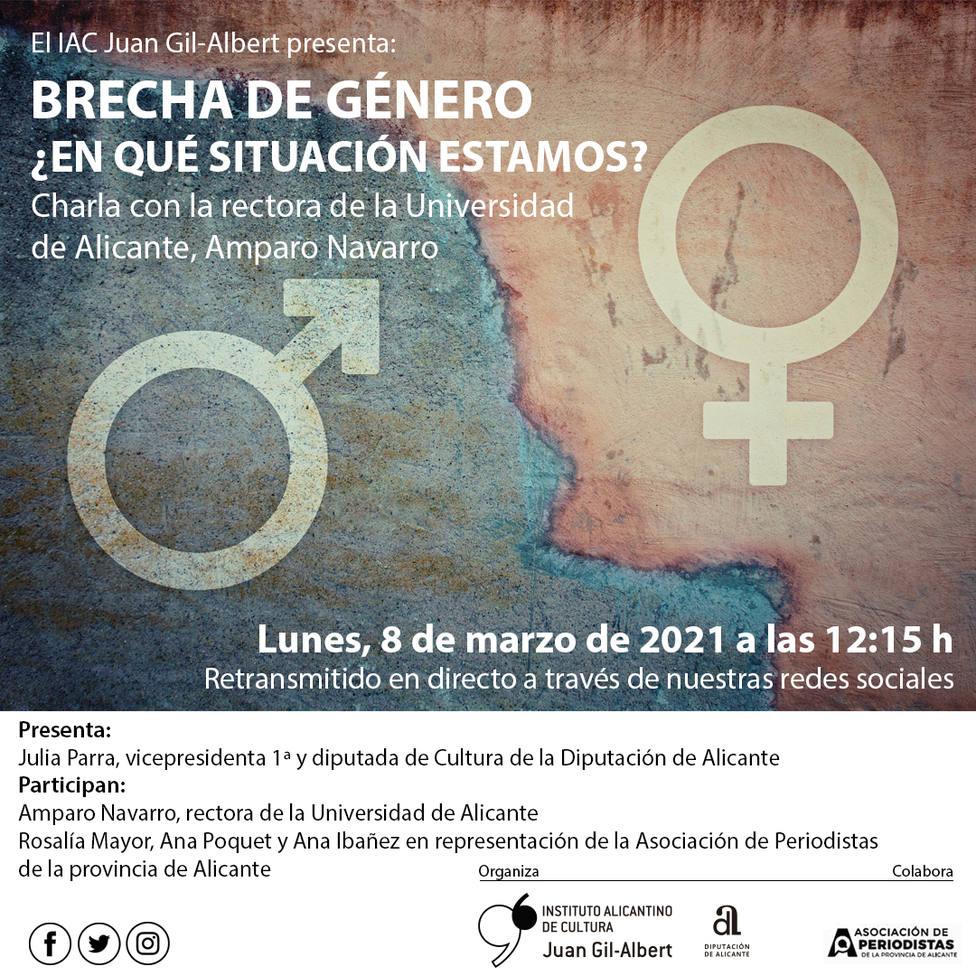 El Instituto Gil-Albert celebra el 8M con un encuentro virtual con la rectora de la Universidad de Alicante