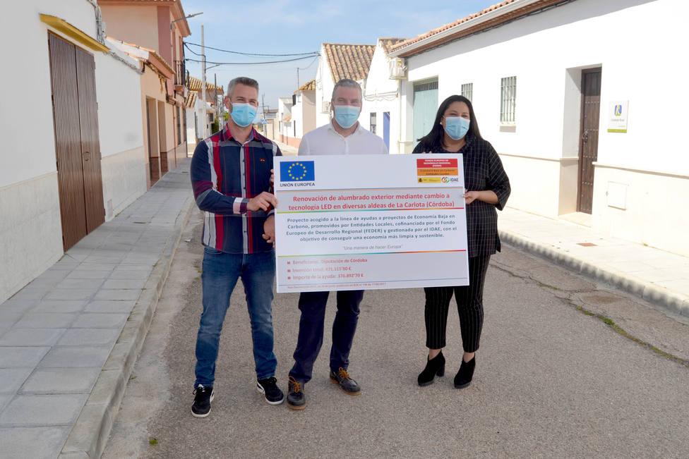 La Carlota y Aguilar de la Frontera culminan sus obras de renovación de alumbrado gracias a la Diputación