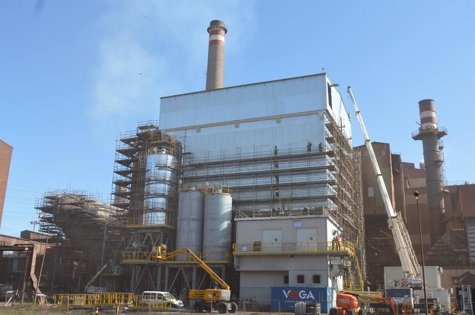 Instalaciones de Arcelor Mittal en Veriña (Gijón)