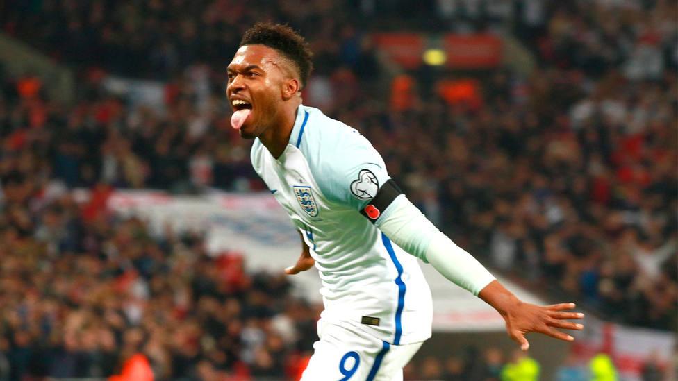 Daniel Sturridge celebra un gol durante un partido con la Selección de Inglaterra. CORDONPRESS