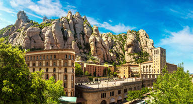 Santa,Maria,De,Montserrat,Abbey,In,Monistrol,,In,A,Beautiful