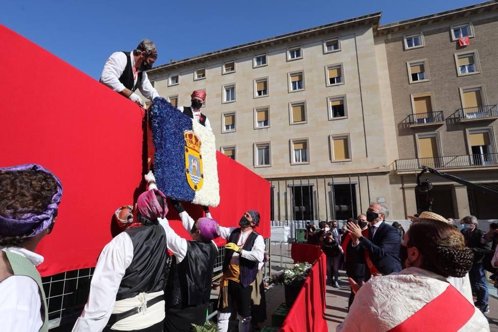 Ofrenda de Flores. Alcalde. Virgen del Pilar. Jorge Azcón