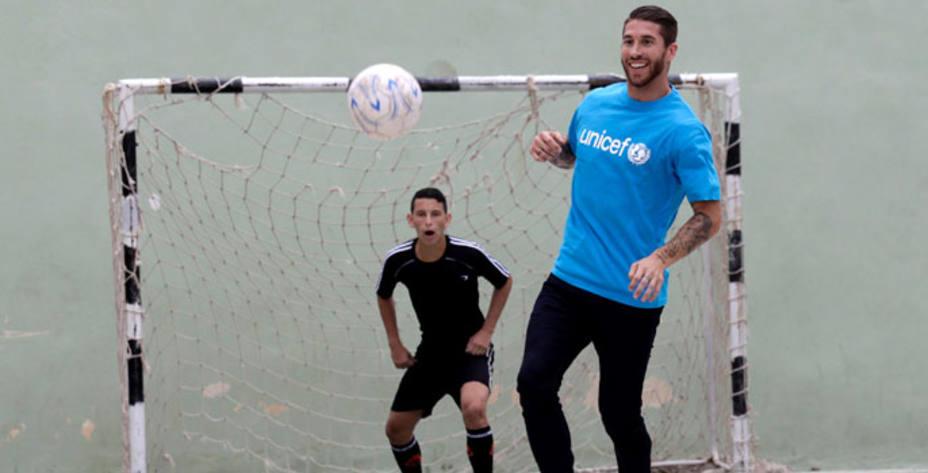 Sergio Ramos, futbolista del Real Madrid. REUTERS