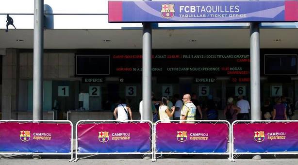 Imagen de las taquillas del Camp Nou (IMAGEN: FC Barcelona)