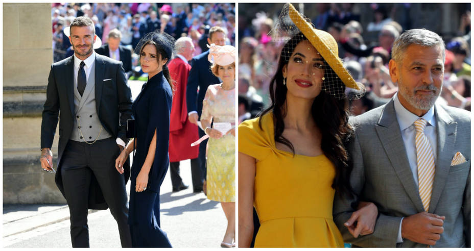 Clooney y Beckham en la boda del príncipe Harry y Meghan Markle