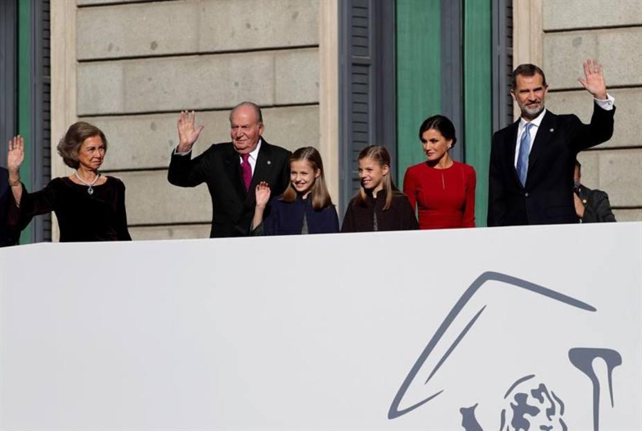 Dos Reyes y una Princesa para celebrar los 40 años de la Constitución