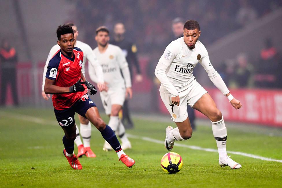 Mbappé, ante el Lille (Cordon Press)