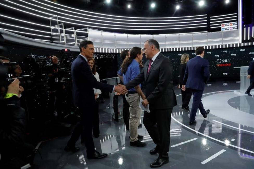 Así han llegado los cuatro candidatos al debate de TVE