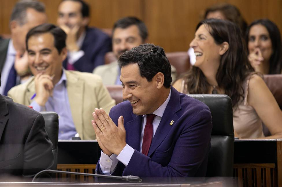 El Presidente de la Junta de Andalucía , Juan Manuel Moreno