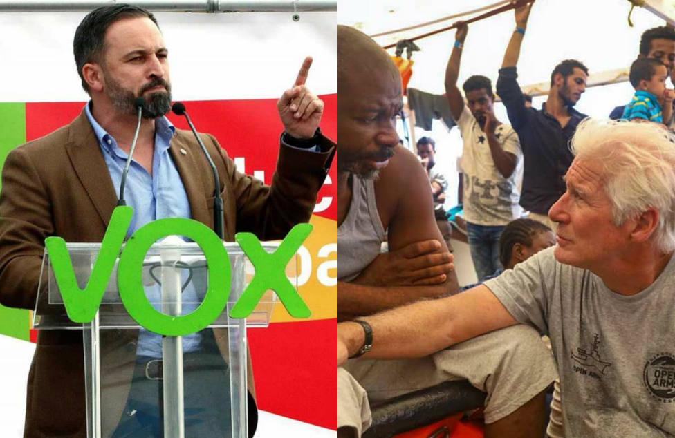 La dura crítica de Vox a Richard Gere por su discurso a bordo del barco de Open Arms