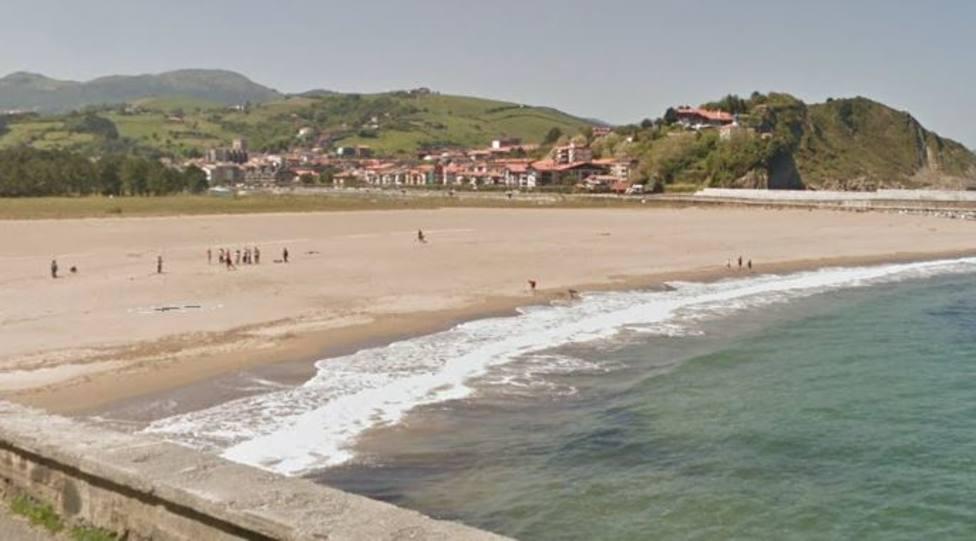 Playa Santiago de Zumaia (Guipúzcoa)