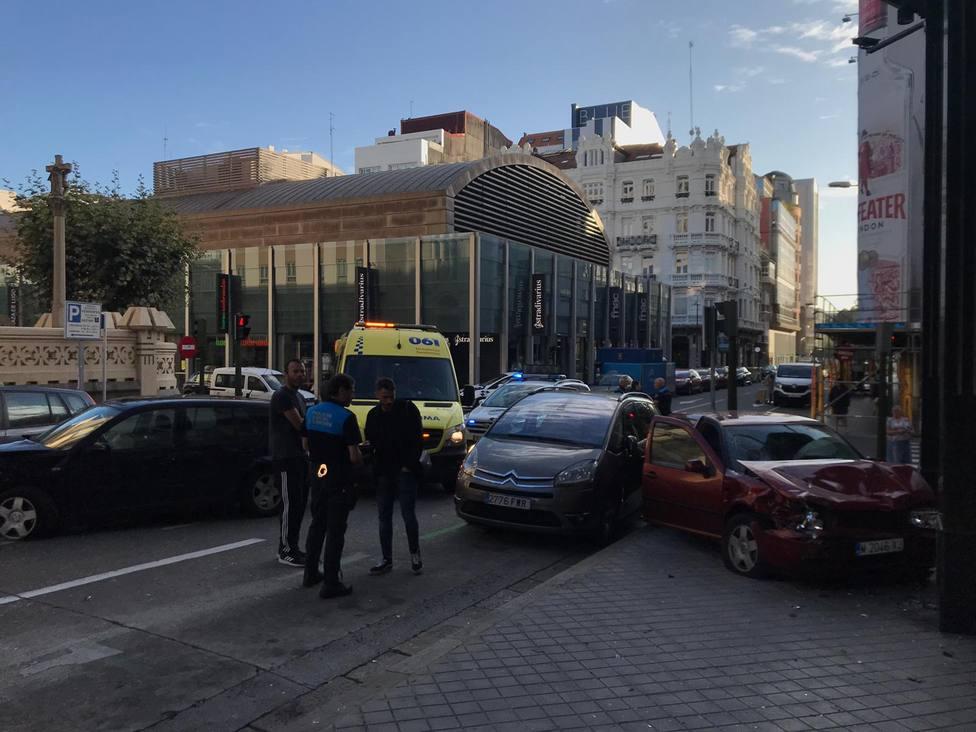 Accidente Plaza de Lugo