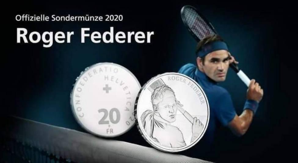 Suiza acuñará monedas de oro y plata con la cara de Roger Federer