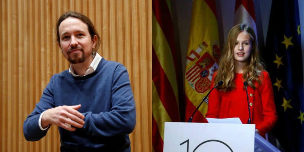 Los sorprendentes elogios de Pablo Iglesias a la Monarquía y la Princesa Leonor