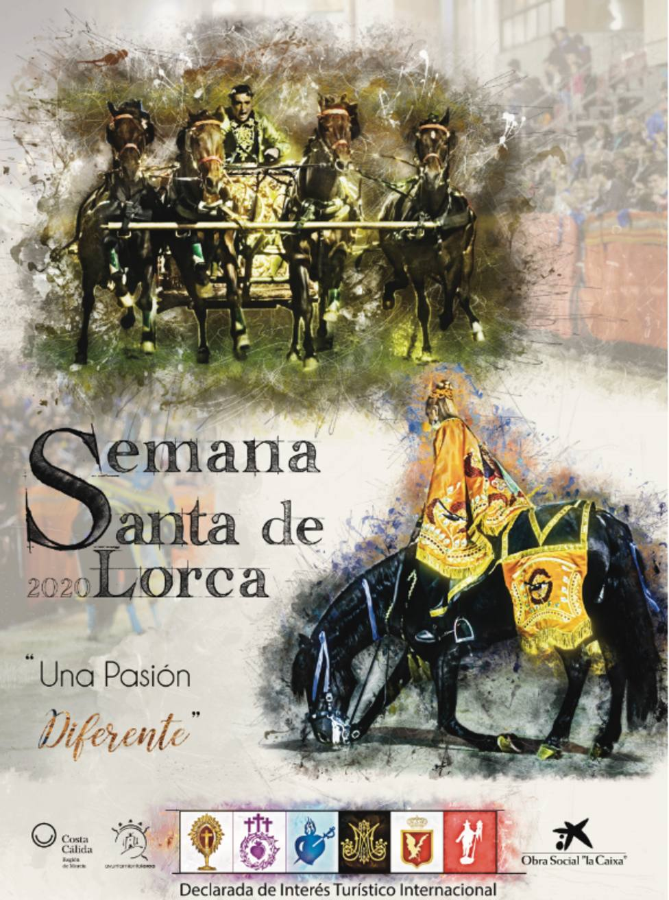 """""""Pasión de Fuerza y Elegancia"""" cartel Semana Santa de Lorca 2020"""
