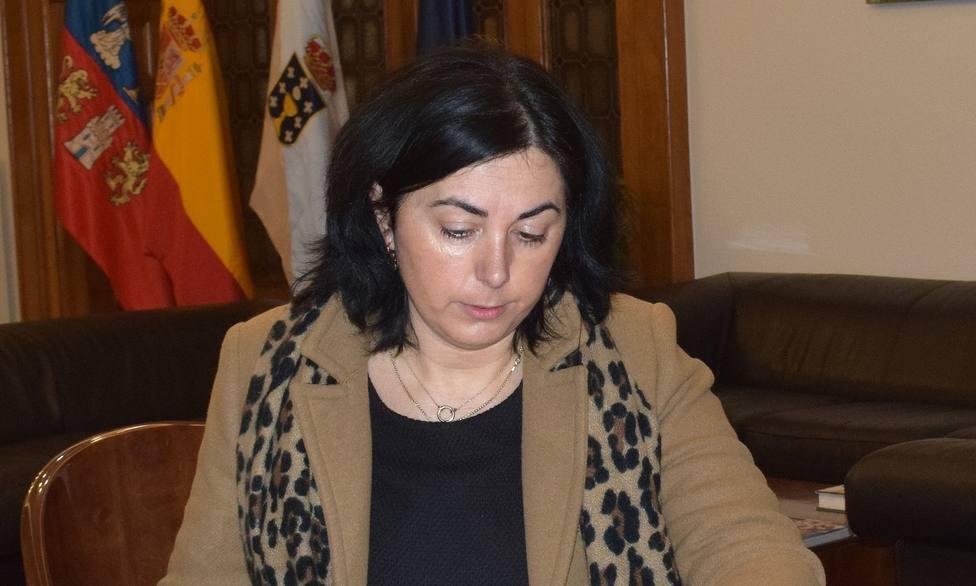 La alcaldesa de Mondoñedo, Elena Candia