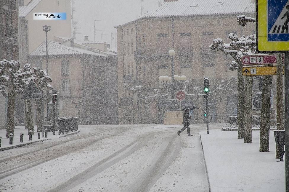 Gloria, el temporal de nieve que barre La Rioja de este a oeste
