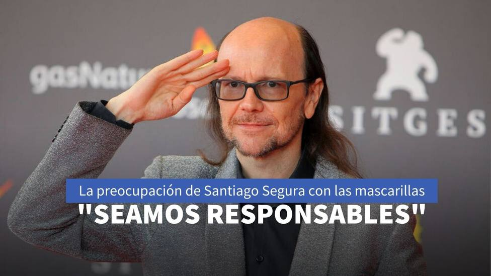 La preocupación de Santiago Segura por el masivo uso de mascarillas en las calles