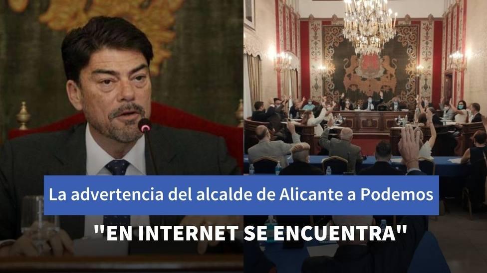 El enfado de este alcalde de Alicante por estas palabras de una concejala en el Ayuntamiento de Alicante