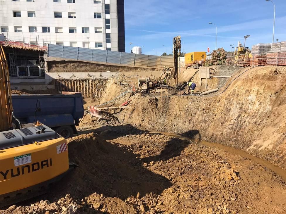 Obras que se están llevando a cabo en el Arquitecto Marcide. FOTO: Consellería Infraestructuras