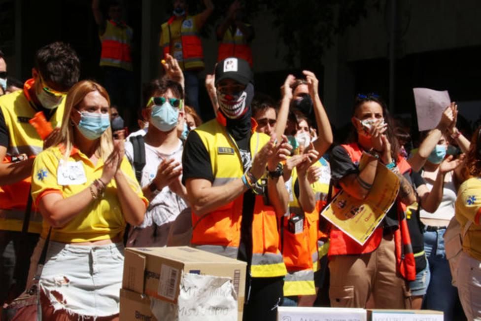 Trabajadores protestan en la movilización del pasado mes de junio.