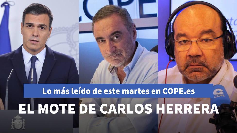 El mote de Herrera para Illa, Sánchez, Iglesias y Simón, entre lo más leído de este martes