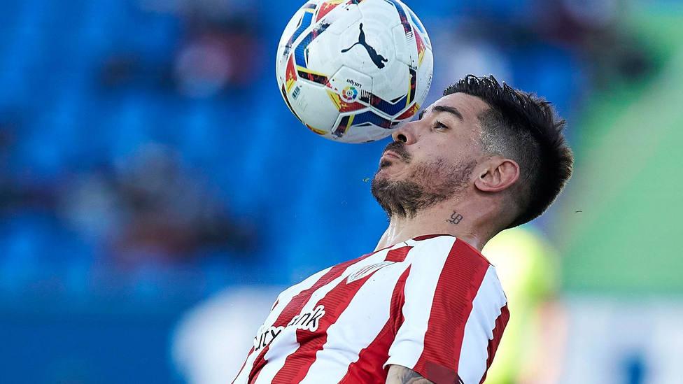 Yuri Berchiche, durante el Getafe - Athletic de LaLiga Santander. CORDONPRESS