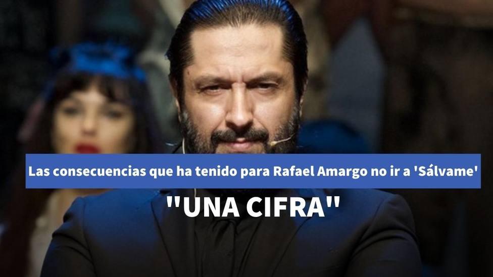 Las consecuencias que ha tenido para Rafael Amargo no acudir a Sálvame Deluxe