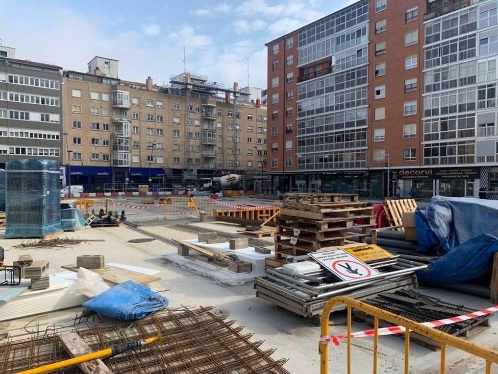 La remodelación de la plaza Santiago de Gamonal concluirá en julio tras una inversión de casi 2 millones