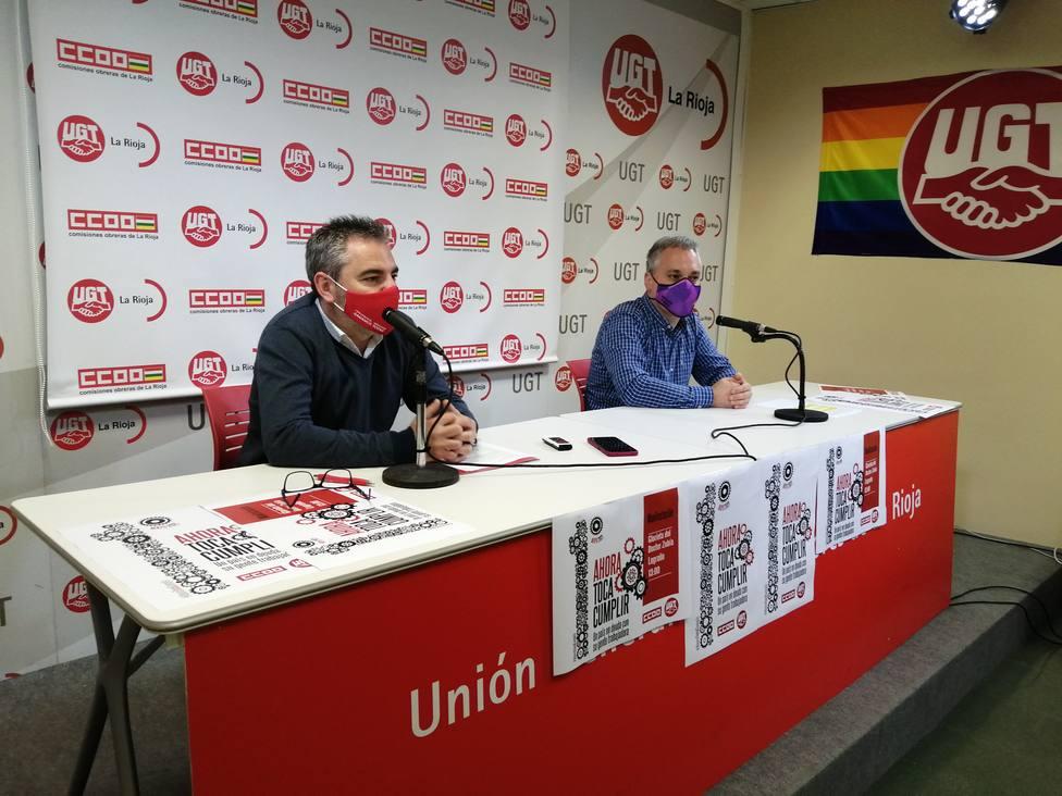 UGT y CCOO celebran el Primero de Mayo en La Rioja con la recuperación de la movilización en la calle