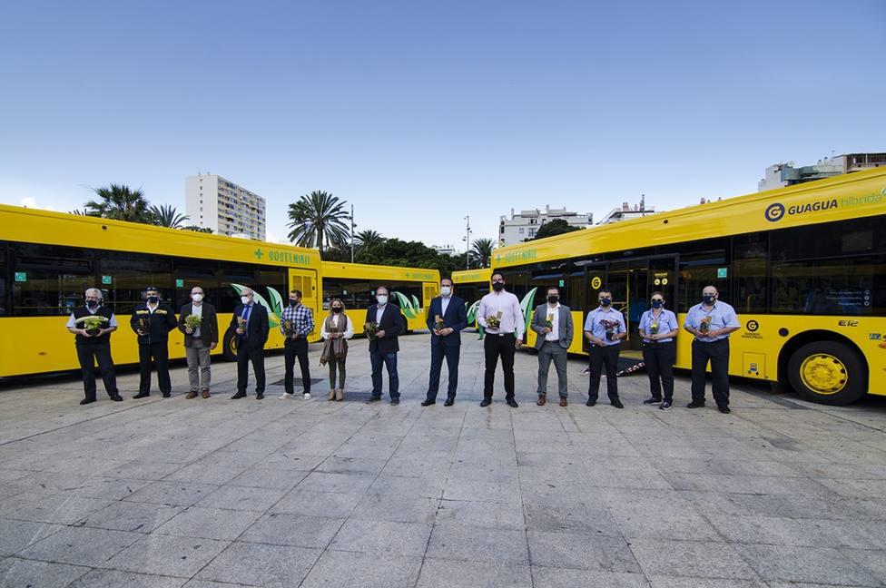 Guaguas Municipales renueva su flota con diez nuevos vehículos que reducen un 20% las emisiones de CO2