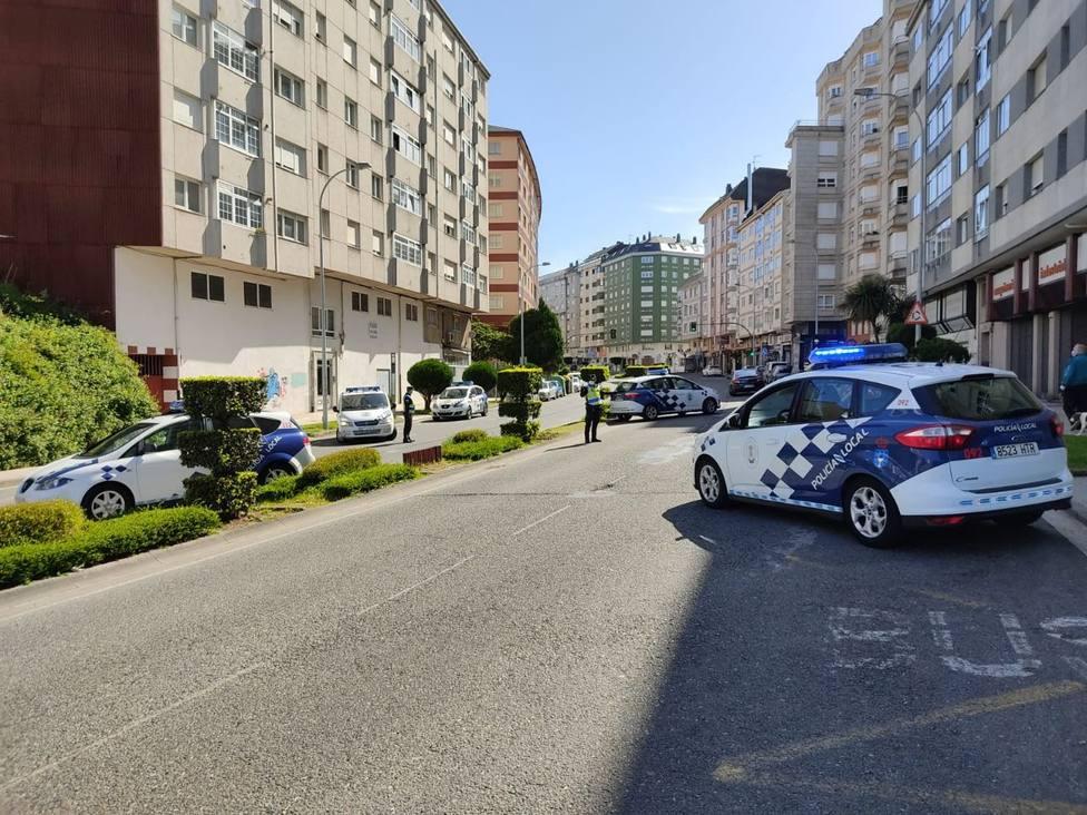 Control diurno de la Policía Local de Lugo