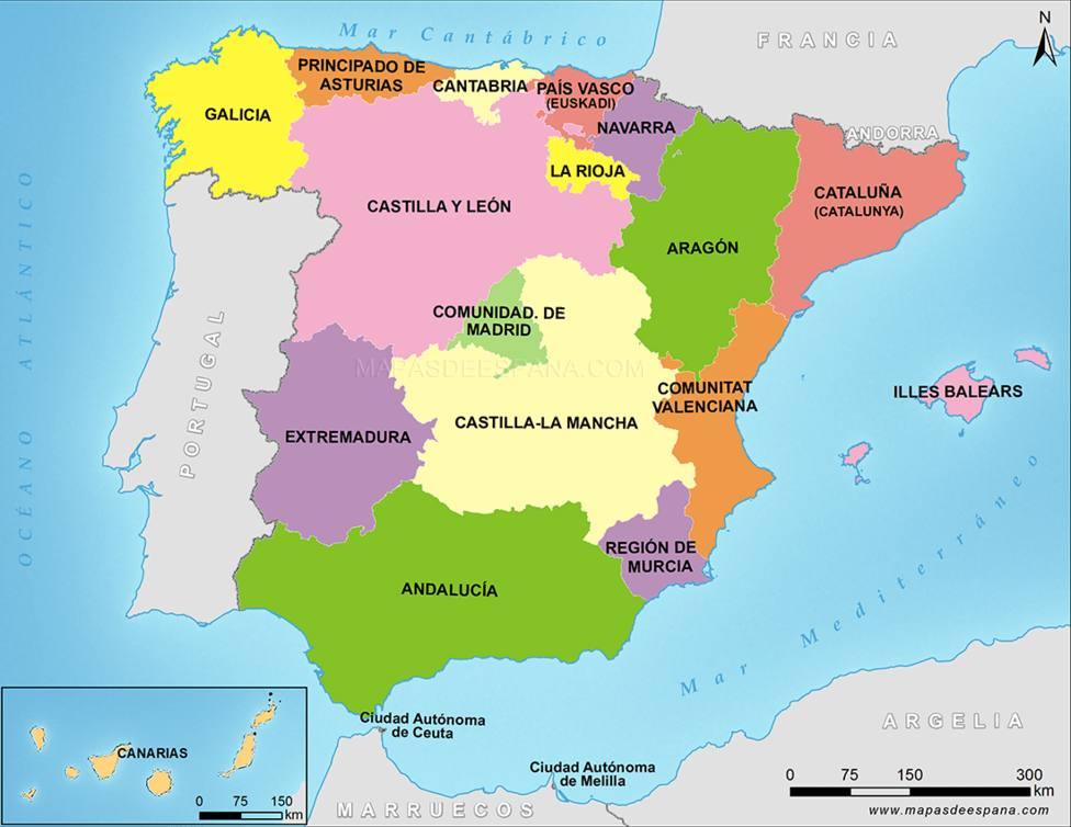 El mapa que muestra los platos típicos de cada región de España