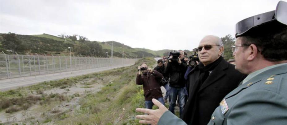 El ministro del Interior ha visitado este miércoles Ceuta. EFE