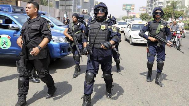 Miembros de las fuerzas de seguridad de Egipto