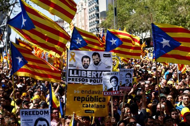 Manifestación en Barcelona por los presos políticos