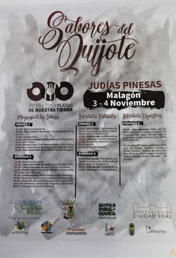 Cartel Sabores del Quijote en Malagón