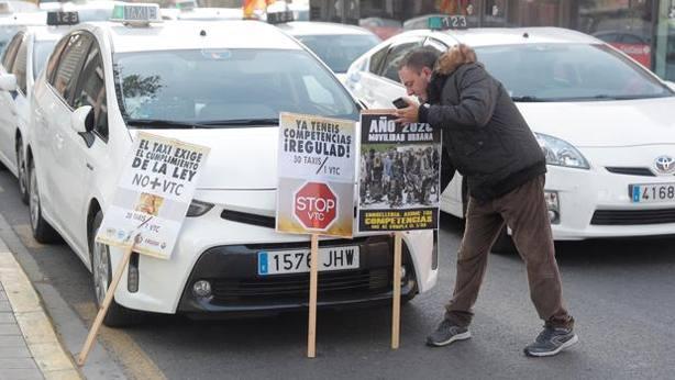 Los taxistas se manifiestan hoy en Valencia