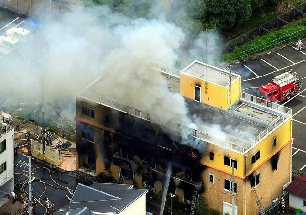 Al menos diez muertos en un incendio provocado en un estudio de animación en Japón